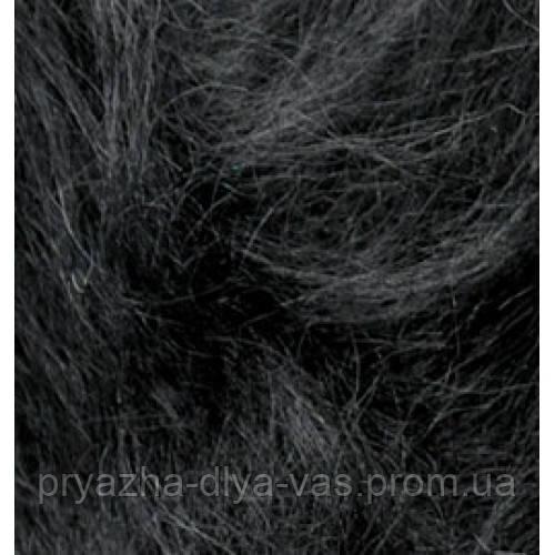 Мохеровая пряжа (100г/200м, 25%-мохер, 24%-шерсть, 51%-акрил) Alize Mohair Classic New 60(чёрный)