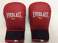Накладки (перчатки) для карате EVERLAST красные S