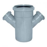 Хрестовина каналізаційна ПП, d-110х 50 мм 45*