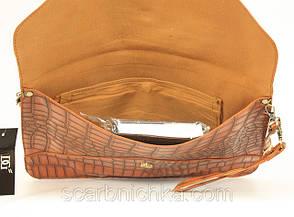 """Клатч """"DG"""" №060 коричневый  Артикул: 136795  , фото 2"""