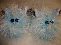 """Тапочки комнатные """"Масяня-чок"""" полушлёпки голубые., фото 1"""