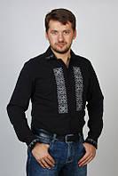 Рубашка мужская/вышиванка черная