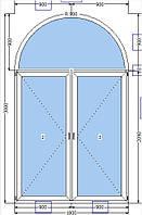 Двери Арка 1800х3000 (белая)