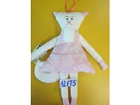 Мягкая игрушка кошка Ситец, DPK000044