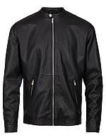 Мужская кожаная куртка Howlan Jacket черного цвета от !Solid (Дания) в размере L