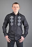Рубашка мужская/вышиванка, черная
