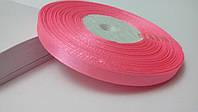 Лента атласная 0,6 см №2 ярко розовая (32 метра)