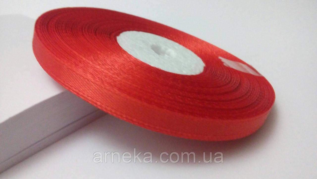 Лента атласная 0,6 см №4 красная (32 метра)