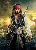 Картина 40х60 см Пираты Карибского моря Портрет Джека