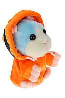 Хомяк в капюшоне - повторюха ( говорящий хомяк ), 4 цвета прD1173