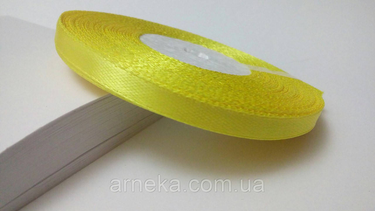 Стрічка атласна 0,6 см №9 жовта