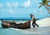 Картина 60х40 см Пираты Карибского моря Бухта