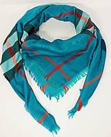 Большой кашемировый платок, шаль Burberry голубая