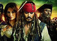 Картина 60х40 см Пираты Карибского моря Джек и команда