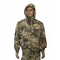 Камуфляжный костюм для охоты и рыбалки чешуя с капюшоном