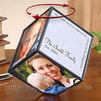 Прикольный подарок — Вращающийся куб с фотографиями