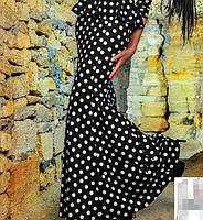 Жіноче Плаття в горох з баскою. Багато квітів., фото 3