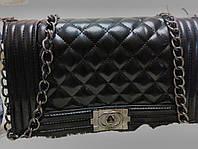 Сумка  копия Шанель черная Бренды с доставкой
