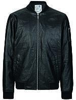 Мужская натуральная кожаная куртка Devon Pig Spilt Leather Jacket черного цвета от !Solid (Дания)  в размере L
