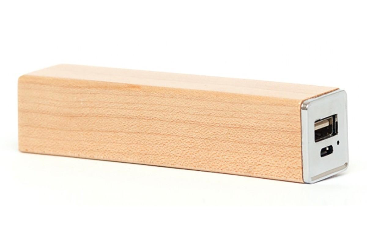 Эксклюзивный деревянный портативный аккумулятор брусок Клён