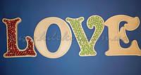 Буквы LOVE подставка  для конфет капкейков  заготовка для декора