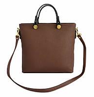 Сумочка коричневая модная деловая на плечо
