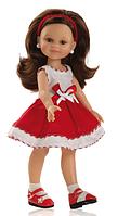 Кукла Paola Reina Клео в красно-белом платье 32 см (04640)