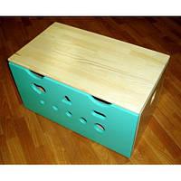 Ящик для игрушек цветной из сосны