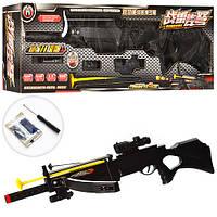 Арбалет H7A  2в1(ружье),83см,лазер,водяные пули,стрела-присоска,на бат-ке(таб),в кор,87-27-13см