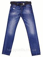 Мужские дизайнерские джинсы с ремнем Caten Bros, синие