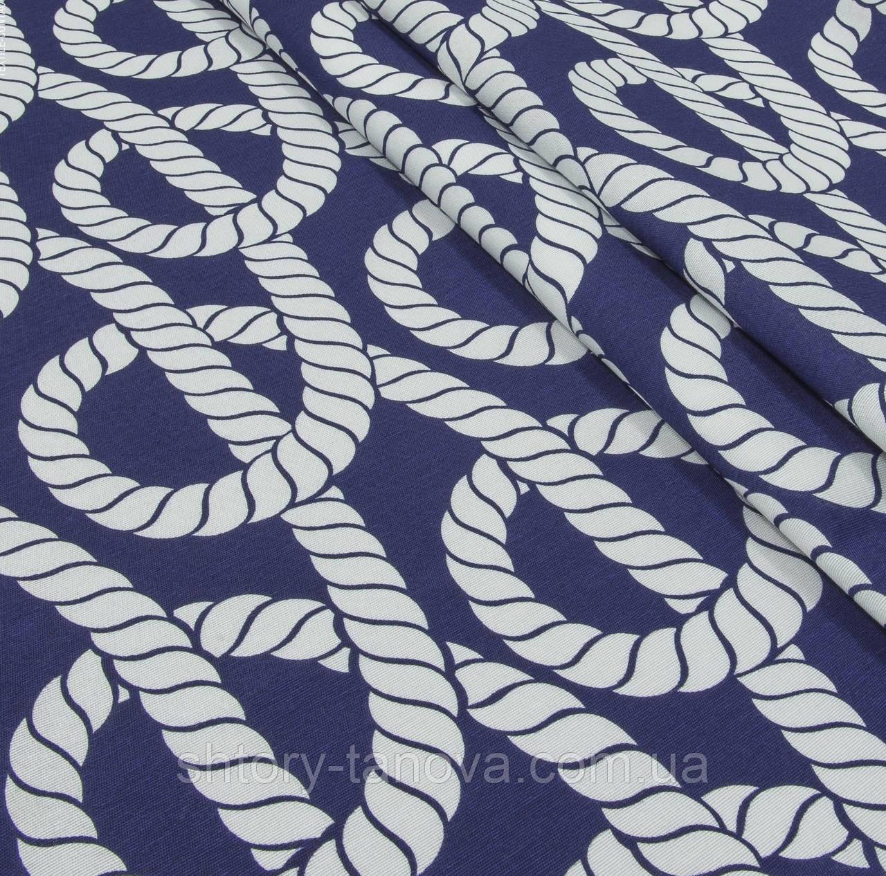 Тканина в морському стилі канат