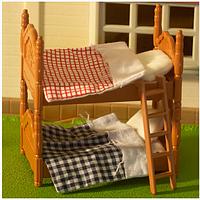 Игрушечная двухэтажная кровать Нарру family 012-02B