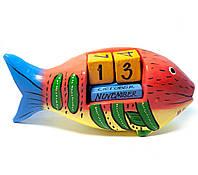 Календарь настольный дерево Рыба Индонезия