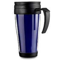 Термокружка пластиковая, 400мл, цвет Синий