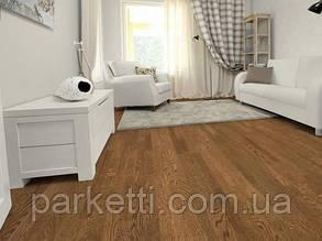 Паркетная доска Focus Floor Дуб Santa-Ana 3-полосный, легкий браш, коричневое масло