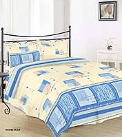 Семейный бязевый комплект постельного белья GOLD115 г/м2, 30-0390 Blue