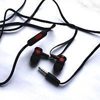 Внутриканальные наушники с микрофоном. Черные.