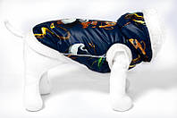 """Зимний жилет """"Панда кунг фу""""размер S(24см) VipDoggy"""
