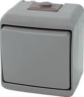 """Выключатель ETI """"лестничный"""", наружный, серый, IP44, VHE-3-SR, 4668062"""