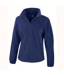 Женская флисовая куртка на молнии темно-синяя 220-32