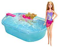 Кукла Барби Barbie Swimmin' Pup Pool Set бассейн для щенков
