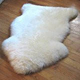 Шкура овечья белая большой размер