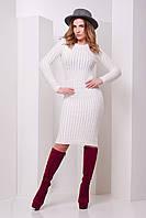 Платье вязанное теплое женское размер универальный