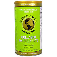 Great Lakes Gelatin Co., Гидролизат коллагена, коллаген для суставов, говяжий, 16 унций (454 г)