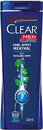 Мужской шампунь Clear Cool Sport Menthol с экстрактом охлаждение мяты 400 мл (Нидерланды)