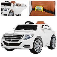 Детский электромобиль Mercedes Benz ZP 8003 EBLR-1 белый, мягкие колеса и кожаное сиденье