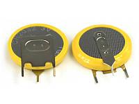"""Батарейка CR 2032 Lithium 3V, 3 вывода для вертикальной """"пайки"""" Тип 1"""