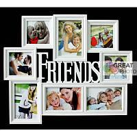 Коллаж рамка 8 фото friends