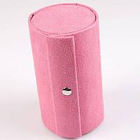 Женская нежно-розовая шкатулка для бижутерии.