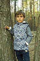 Демисезонная утепленная куртка-жилет 2 в 1 для мальчиков 4 - 8 лет р. 110-128 ТМ Модный карапуз 03-00597-0